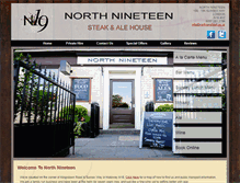 Tablet Preview of northnineteen.co.uk
